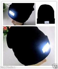 5 LED Light Cap Hat Winter Warm Beanie Hunting Head Lamp Camping Work Mechanic