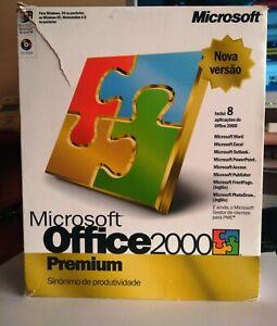 Microsoft Office 2000 Premium Portugal in the Box 4CD w/manuals Rare W95 NT W4.0