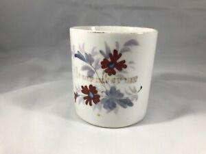 Beautiful Antique Vintage Porcelain Ceramic Mug Flowers