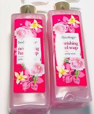 Lot Of 2 Bodycology Nourishing Hand Soap PINK VANILLA WISH 10.oz Each