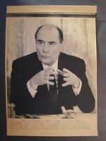 AP Wire Press Photo 1981 French Pres Francois Mitterrand Elysee Palace 1st Conf