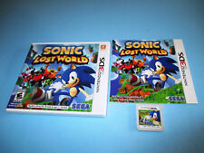 Sonic Lost World (Nintendo 3DS) XL Game w/Case & Manual