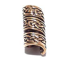 Slender Weave Viking Celtic Bronze beard bead Ring - dreadlock hair