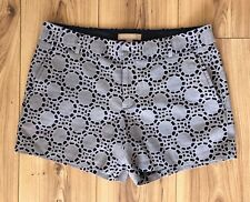 NEW *BANANA REPUBLIC* SHORTS UK:6/S RRP£40 COTTON UNISEX BLUE FORMAL PATTERN ZIP