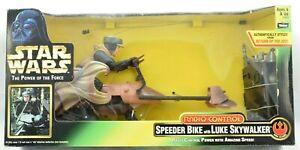 "Star Wars Radio Controlled Speeder Bike + 6"" Luke Figure POTF2 BNIB -Hasbro 1997"