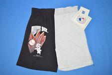 vtg 90s CHICAGO WHITE SOX 2 TONE DEADSTOCK BOY'S BASEBALL SHORTS YOUTH MED YM