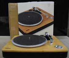 House of Marley Stir It Up Natural Bamboo Turntable with Built-in Pre-Amp