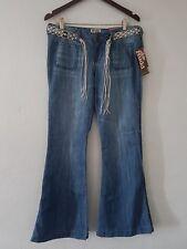 Mudd Jeans Wide Leg Average W/Belt Sz. 7 NWT