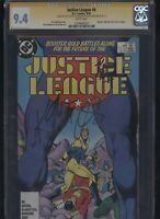 Justice League #4 CGC 9.4 3x SS Giffen & DeMatteis & Maguire 1987