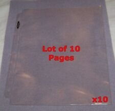 "10 1-POCKET 8.5""x11"" STOCK CERTIFICATE PAGES HOLDER NEW! 3-RING ALBUM SHEETS"