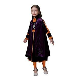 ELSA & ANNA® Girls Fancy Dress Snow Queen Princess Dress Halloween Costume ANNA3