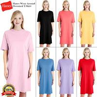Hanes Womens Wear Around T-Shirt Dress Comfort Nightshirt Top Nightwear T Shirt