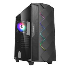 GameMax ATX Mid Tower A361 Gaming PC Desktop Computer Case W/ RGB LED Fan