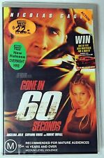 Gone In Sixty Seconds Nicolas Cage Angelina Jolie VHS VIDEO CASSETTE TAPE