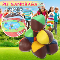 12Pcs PU Sand Bag Ball Sacks Play Sandbags Summer Pool Game Kids Adults Toy