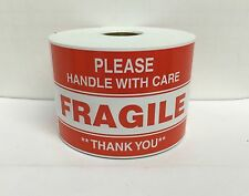 250 Large Labels 3x5 Please FRAGILE Handle With Care Shipping Mailing Stickers