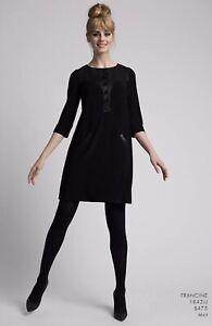 """LEONA EDMISTON *Frocks*  """"Francine""""  Black Stretch Sheath Pockets Dress sz 1/10"""