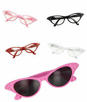 Ladies 50s glasses 60s Rock Roll Retro Grease 50s Glasses Fancy Dress