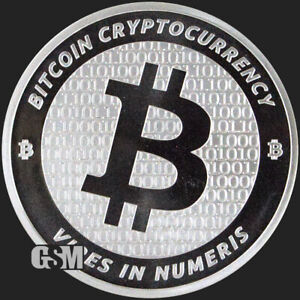 Bitcoin 1 oz .999 silver commemorative coin BTC decentralized consensus crypto