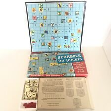 Vintage SCRABBLE For Juniors Spear & Sons Two Crossword Games 1960s ?