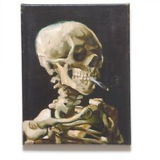 Vincent van Gogh~Head of a Skeleton with cigarette~Giclée on STRETCHED CANVAS