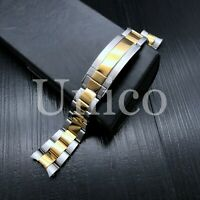 20MM STEEL GOLD TWO TONE OYSTER WATCH BAND FOR ROLEX SUBMARINER 116613 116613LB