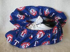 Men's MLB Texas Rangers.  Cotton,  handmade lined with vinyl sole.Size 10-12