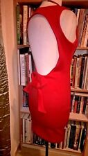 CMH Red Sleeveless Backless Knee Length Evening Party Dress Sz S Small PD106