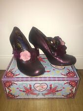 Irregular Choice Purple Aurora Shoes New In Box Size 43 Heels IC 8.5 9