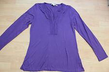 BODEN purple  modal  long sleeve top  size  14  NEW