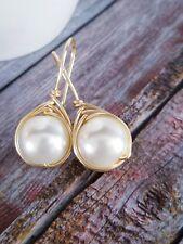 Earring Pearl Women Stud Fashion Jewelry Dangle Boho Round Ear Gift Elegant