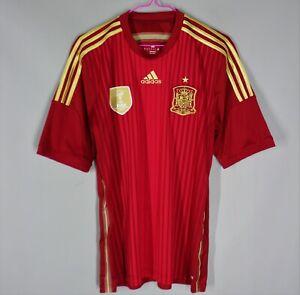 SPAIN NATIONAL TEAM 2014/2015 HOME FOOTBALL SOCCER SHIRT JERSEY CAMISETA ADIDAS