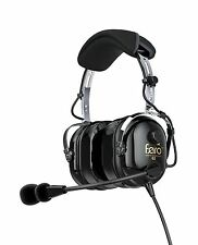 Faro G2 Passive Noise Reduction (PNR) Aviation Pilot Headset - MP3 Input - Black