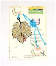 Traditional Korean reader Metal Bookmark - ginkgo leaf