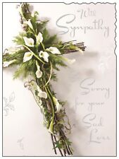 With Sympathy ~ Sorry For Your Sad Loss Card ~ Luxury Card ~ Made In UK JJ