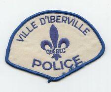 Vintage Ville d'Iberville Police Quebec, Canada HTF Uniform/Shoulder Patch