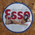 Vintage 1969 Esso 'A Joy To Drive With' Porcelain Gas & Oil Metal Sign