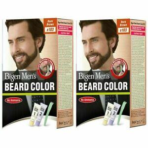Bigen Men's Beard Color Combo Pack of 2 - Dark Brown 40gm x 2