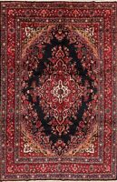 Traditional Floral Lilian Area Rug Wool Hand-Knotted Medallion Red Carpet 8 x 11