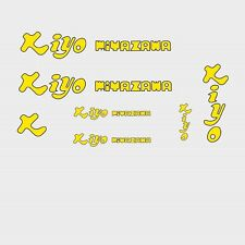 Kiyo Miyazawa Bicycle Decals, Transfers, Stickers - Yellow n.2