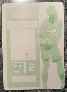 2020 Contenders Bam Adebayo 1/1 Printing Plate One of One Miami Heat