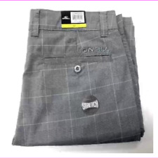 O'Neill Men's Stretch Fabric Plaid Casual Walk Short  Grey 34