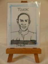 The Complete Star Trek Voyager Sketchafex sketch card Tuvok by Pablo Raimondi