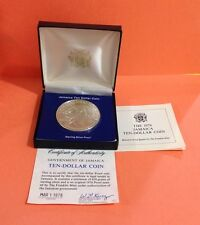 1976 JAMAICA TEN DOLLAR PROOF COIN Sterling Silver 45 Grams