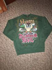 1993 Miami Hurricanes Tasmanian Devil Taz Pullover Sweatshirt Double Sided XL