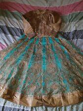 Womens lengha wedding eid sari salwar kameez asian worn once stunning size 10