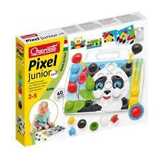 Quercetti Pixel Junior, Steckspiel für Kleinkinder, Steckmosaik Steckerspiel