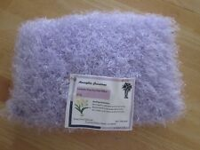 Doll Bedding Pillow Lavender Fun Fur Handmade Hand Crafted Knit 7.5x11 OOAK New