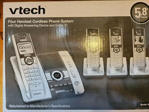 Vtech i6790 5.8 GHz Digital Four Handset Cordless Phone System Siver/Black