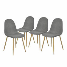 Set of 4 New Eames Style Fabric Padded Home Furniture Dining Side Chairs Gray